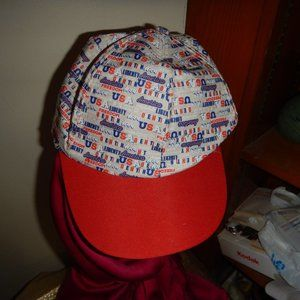 USA Freedom base ball cap red white blue one size